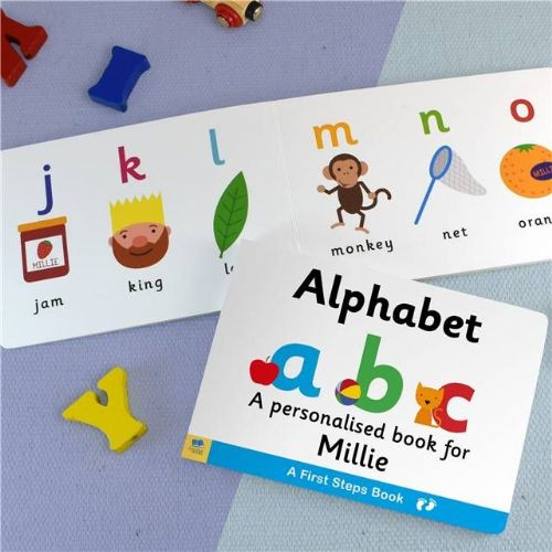 Personalised Learn The Alphabet Book for Toddlers